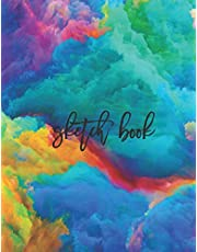 """Sketch Book: Large Notebook for Drawing, Doodling or Sketching: 100 Pages, 8.5"""" x 11"""". Marble Background Cover Sketchbook Blank Paper Drawing and Write Journal and Gift For Kids, adults, artists, students"""