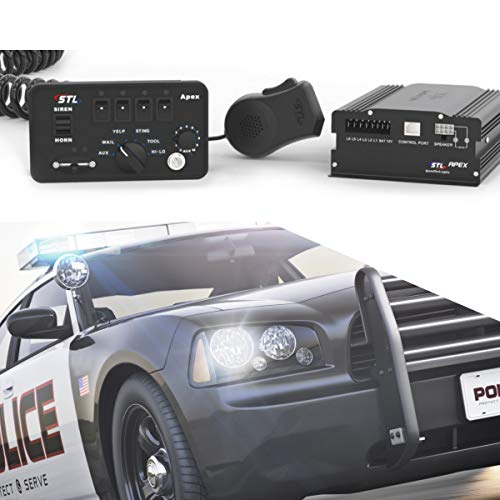 SpeedTech Lights Apex 150-Watt Police Siren and Emergency Vehicle Siren System with Horn and PA Microphone