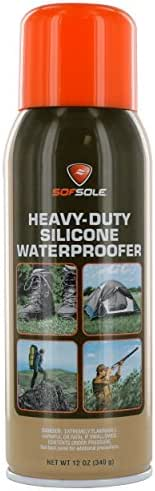 Sof Sole Silicone Waterproofer Spray for Boots, Tents and Outdoor Gear, 12-ounce
