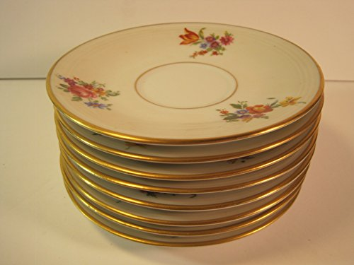 Saucers (No Cups), Set of 8, Limoges France, 5 5/8 Inch