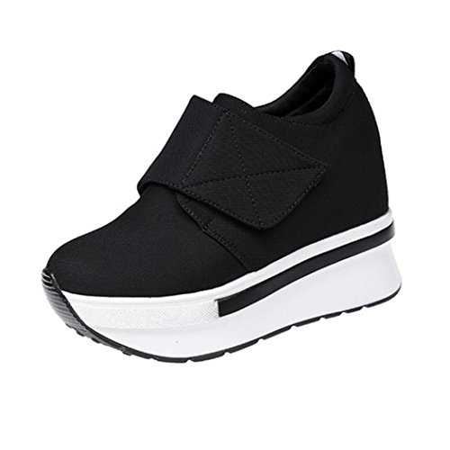 50%OFF Platform Sneaker - Casual Chunky Walking Shoe - Easy Everyday Fashion Slip On - Hero by Women Shoes Wedges Boots Duseedik Clearance (Black B, US:5(CN:35))