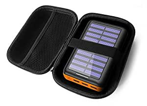 FitSand Hard Case for PLOCHY 24000mAh Portable Solar Charger Power Bank Travel Zipper Carry EVA Best Protection Box