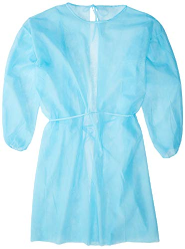 Plastic Surgery Halloween Costume (Omni Health Isolation Gown 28g, Spun-Bonded Polypropylene, Blue, 10 )