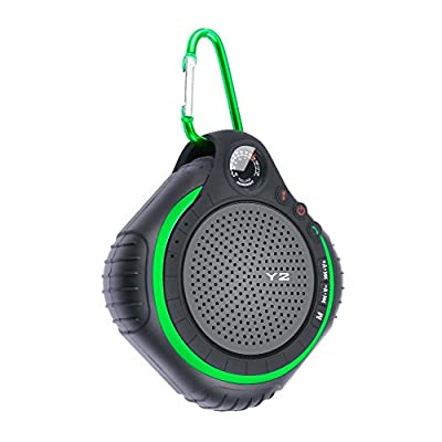Outdoor Bluetooth Speaker,TF Direct® Wireless Waterproof Portable Sport Speaker/Shower Speaker with Mic Built-In LED Light & Temperature Indicator