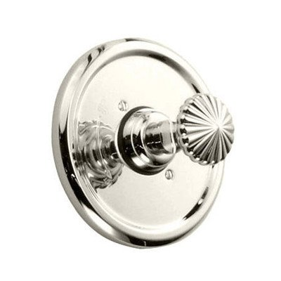 Ornate Pressure Balance Thermostatic Faucet Shower Faucet Trim Only with Knob Handle Finish: Platinum Nickel ()