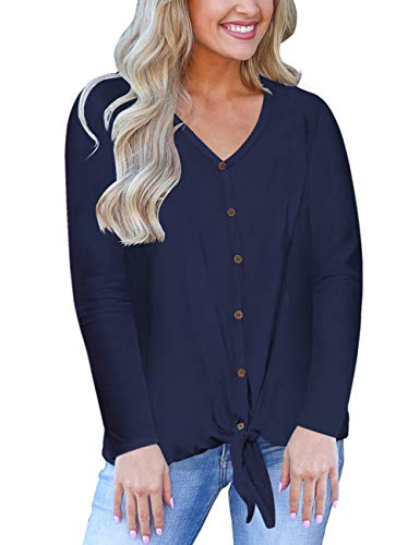Women's Long Sleeve Cute Tops Dressy Fall Clothes V Neck Soft Shirts Halloween Costumes for Girls