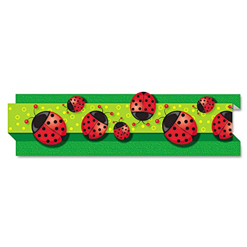 Borders, Ladybugs, Die-cut, 3 quot;x3#39, 8 Strips