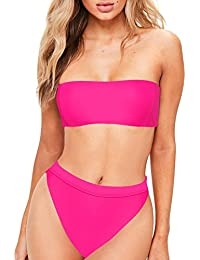 pink bandeau bikini