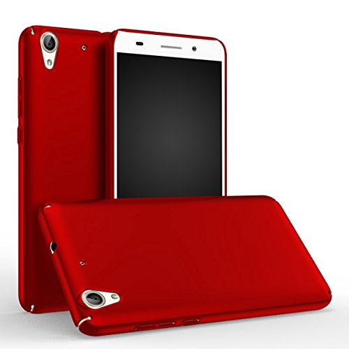 Price comparison product image Huawei Honor 5A / Huawei Y6 II Case Cover, Moonmini Slim Fit Ultra-thin Hard PC Full Body Protection Smooth Grip Back Case Cover Holder for Huawei Honor 5A / Huawei Y6 II (Red)