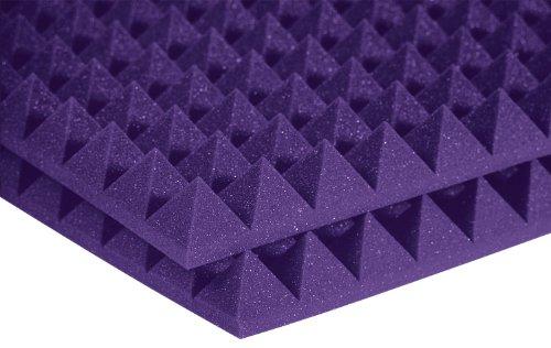 Auralex Acoustics Studiofoam Pyramid Acoustic Absorption Foam, 2