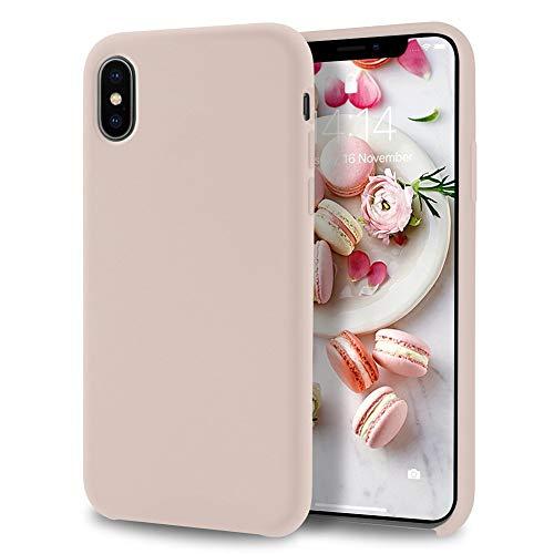 Allinside iPhone Xs/iPhone X Case [Lollipop Series] Liquid Silicone Gel Rubber for iPhone Xs/iPhone X Skin Tone
