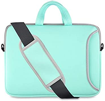 "13.3/"" Laptop Computer Sleeve Bag with 2 Top Pockets /& Shoulder Strap Handle 2619"
