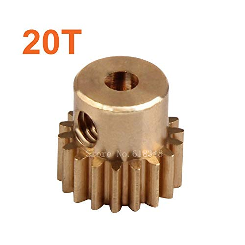 Hockus Accessories Parts 28014 Motor Gear Metal Brass Pinion 20T for 1/16 RC Car Electric Zillionaire Flying Fish 2 94163 94182 94192N