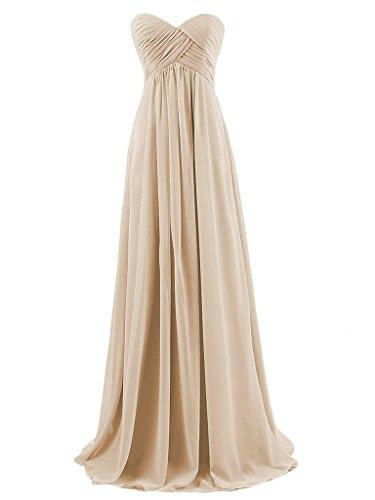 Noche Dama Baile Sin Gasa Larga Tirantes de Vestidos Plisada de de JAEDEN de Champ¨¢n Vestido Honor de RXvSCwwq
