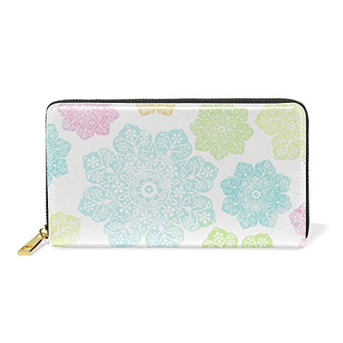 Wallet Purses Snowflake Christmas Clutch Around Colorful Organizer Leather Zip And Handbags TIZORAX Womens qAgUwH