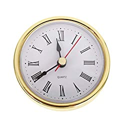 Clock Movement - Classic Clock Craft Quartz Movement 2-1/2 (65mm) Round Clocks Head Insert Roman Number