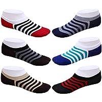 Tex Homz Men's Solid Socks Loafer Socks Assorted color (Pack Of 6)