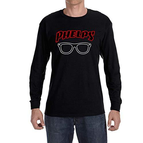Tobin Clothing Black Phelps Glasses Long Sleeve Shirt Adult 2XL