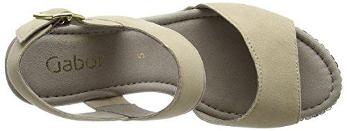 Gabor Shoes Fashion, Sandalias con Cuña para Mujer Beige (sesamo 13)