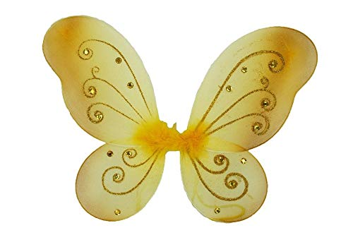 "1 - (17"" x 13"") Butterfly Fairy Costume Wings Gold Color Tkdream from Unknown"