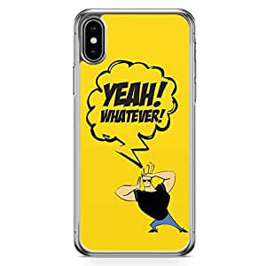 Loud Universe Johny Bravo Quote iPhone XS Max Case Johny Bravo Classic iPhone XS Max Cover with Transparent Edges