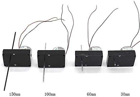 fai da te manuale Scienza dei Materiali asse lungo 30 millimetri // 60 millimetri // 100mm // 150 millimetri solare Gear Motor F-MINGNIAN-TOOL 2 millimetri doppio albero 1PC 3048-300 motoriduttore DC