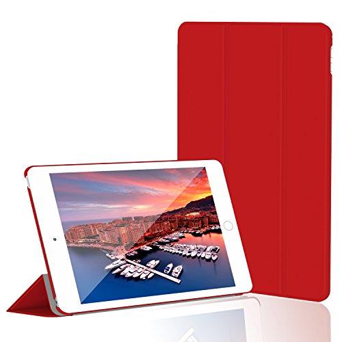 iPad Mini 4 Hülle, JETech Ultra Slim iPad Mini 4 Hülle Schutzhülle Etui Tasche mit Eingebautem Magnet für Einschlaf/Aufwach für Apple New iPad Mini 4 Veröffentlicht am 2015 Smart Case Cover (Rot) - 3286