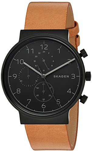 Skagen Men's  SKW6359 Ancher Brown Leather Chronograph Watch