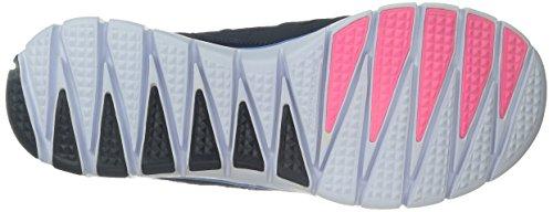 Skechers Flex Tropical Vibes, Baskets Basses Femme Navy Multi