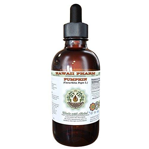 Pumpkin Alcohol-FREE Liquid Extract, Pumpkin (Cucurbita pepo L.) Dried Seed Glycerite Natural Herbal Supplement, Hawaii Pharm, USA 2 fl.oz (Seed Extract Liquid Pumpkin)