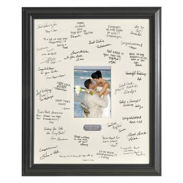 (Personalized Signature Frame - Includes Plate - Wedding Guest Book - Signature Frame)