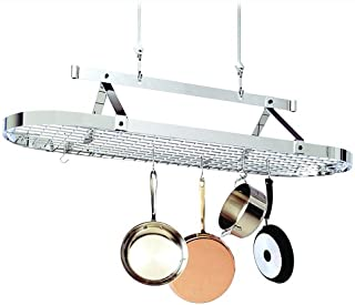 product image for Enclume 5-Foot Oval with Grid Premier Ceiling Rack, Chrome