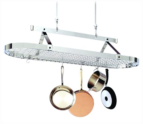 (Enclume PR16awg CH 5-Foot Oval with Grid Premier Ceiling Rack, Chrome )