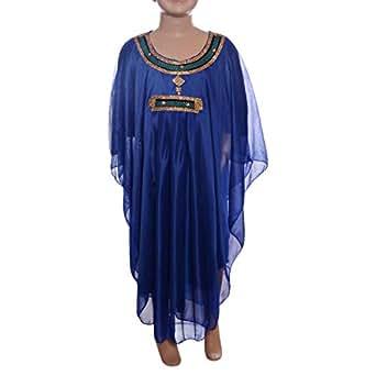 Blue Festive Jalabiya For Girls