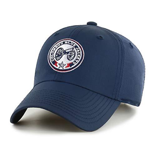 OTS NHL Columbus Blue Jackets Male Wind Swept Challenger Adjustable Hat, Navy, One Size