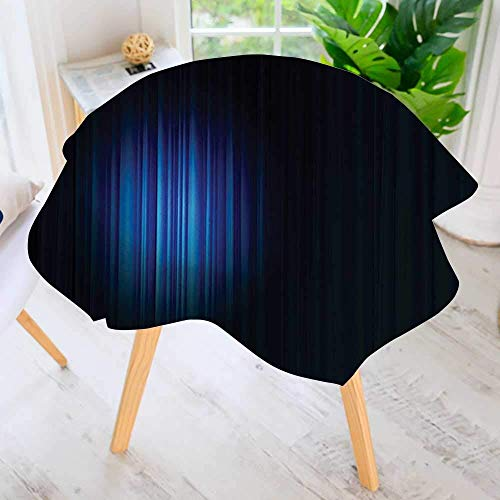 (YCHY Circular Solid Polyester Premium Tablecloth-Single Hollywood Light Themed Theater Artwork Bathroom for Wedding Restaurant Buffet Table Decoration 50