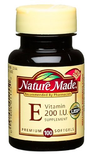 Nature Made Vitamin E 200IU, 100 Softgels (Pack of 4) by Nature Made