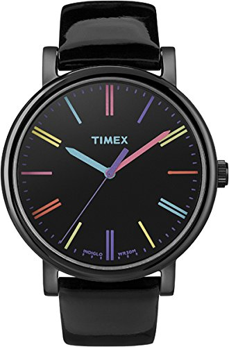 Timex Heritage Easy Reader Black Leather Strap Unisex Watch T2N790