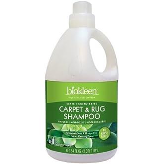 Biokleen Carpet & Rug Shampoo, 64 Ounces (Pack of 6)