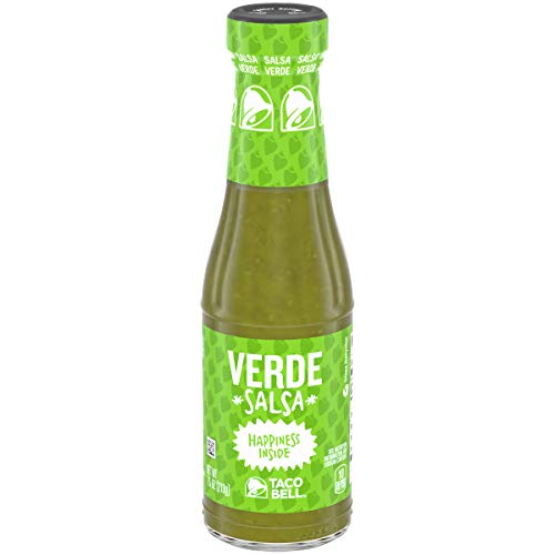 Taco Bell Salsa Verde Bottle (7.5 oz Bottle, Pack of 2) ()