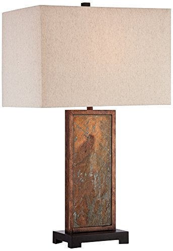 Iron Slate - Franklin Iron Works Yukon Slate Table Lamp