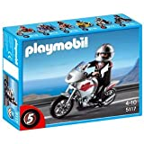 Playmobil Gray Motorcycle with Rider, Multi Color