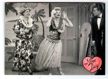 Lucille Ball trading card I Love Lucy 2001 Dart #37 Ricky Ricardo Ethel Mertz Hawaiian Vacation