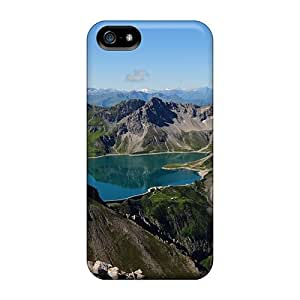 For Iphone Case, High Quality Fantastic Mirrored Mountain Lake For Iphone 5/5s Cover Cases by mcsharks