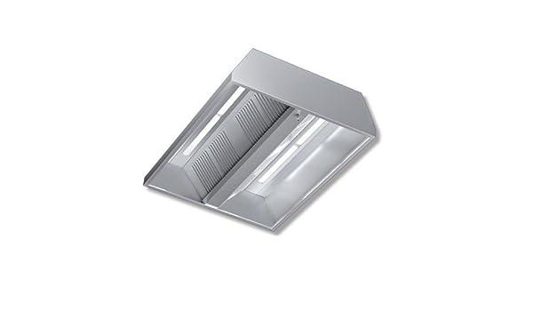 Cappa 240 x 130 x 45 acero inoxidable Central neutra luces Cocina Restaurante rs7510: Amazon.es: Hogar
