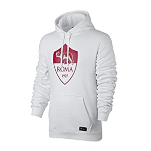 2017-2018 AS Roma Nike Core Hooded Top (White)