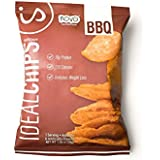 IdealShape Chips, IdealChips, BBQ, 10g Protein, 120 Cals, Low Carb, Weight Loss, Baked, 1.06oz Bag, 7 Count, Packaging May Vary