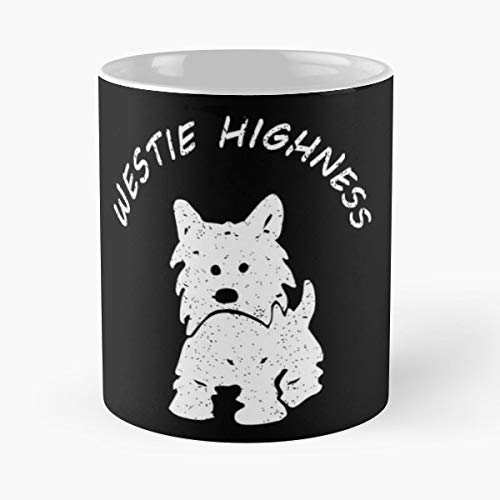 Highland Westie West White Terrier - Morning Coffee Mug Ceramic Best -