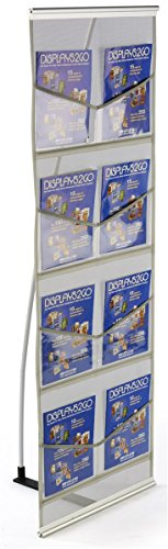 Displays2go Trade Show Magazine Literature Rack - Rack Literature Distribution