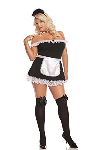 Women's Plus Size Sexy Maid Uniform Cosplay Costume Set ()